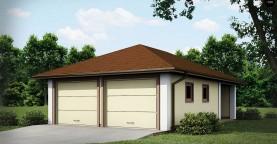 Проект гаража для двух автомобилей для дома в классическом стиле