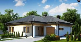 Вариант проекта одноэтажного дома Z204 с гаражом для одной машины.
