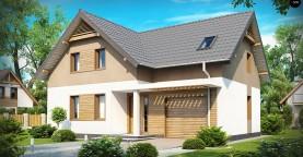 Проект удобного функционального дома с мансардой и гаражом