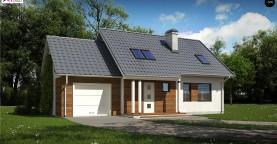 Мансардный домик с гаражом и тремя спальнями