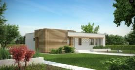 Одноэтажный дом в стиле тихоокеанского бунгало простой и функциональной планировкой.