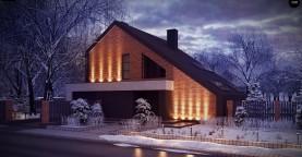 Проект комфортного мансардного дома со вторым светом и функциональной планировкой.