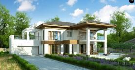 Проект стильного и просторного дома с элементами классической архитектуры.