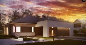 Комфортный элегантный дом с тремя спальнями и выступающим фронтальным гаражом.