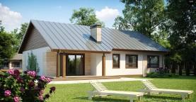 Проект выгодного одноэтажного дома с возможностью адаптации чердачного помещения.