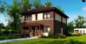 Двухэтажный дом традиционного дизайна