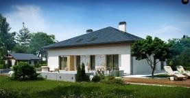 Проект просторного дома с многоскатной крышей.